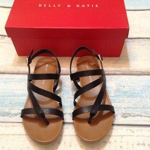 Kelly & Katie Talia Black Strappy Sandal